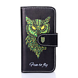 Leather And Tpu Cellphone Case Protection With Drawing Cartoon Shell for iPhone5/5S
