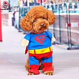 FUN OF PETS® Cute Superman Christmas Cosplay Dog Clothes with Mantle for Pets Dogs (Assorted Sizes)