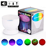 YOBO 3W RGB The Waves Projector Music Audio Interface Lamplight  Automatic Shutdown(4AAA/USB,Adapter Included)