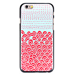Red-Blue Oil Painting Pattern PC Back Cover for iPhone 6