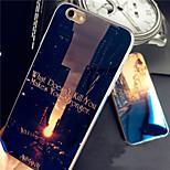 Dawn Sunset Sunrise City Blue Light Reflective Blu-ray Soft TPU Case for iphone 6s plus/iphone 6 plus