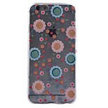 Flower pattern TPU Back Caes Transparent Painted relief Case For iPhone6/6s