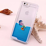 Transparent Coconut Tree Dolphins Perspective Quicksand PC Material Phone Case for iPhone 6/6S (Assorted Colors)