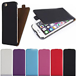 Pure Color up and Down Flip PU Leather Full Body Cases Phone Protective Shell for iPhone 6 Plus/6S Plus 5.5 inch