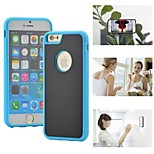 Myfon Lo  TPU+PC+Nano Suction Material  Anti-Gravity Case for iPhone 6(Blue with logo hole)