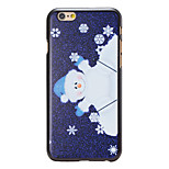 Christmas Style Cartoon Santa Pattern PC Hard Back Cover for iPhone 6