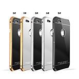 Aluminum Metal Frame Bumper Tempered Glass Back Cover Case For i phone 6 Plus