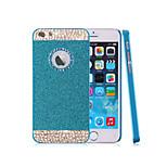 la parte superior del brillo de la moda rhinestone bling del polvo con el caso trasero duro agujero para el iphone 5 / 5s (colores