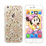 Disney Minnie Silicone Gel TPU material  Semi-Transparent Case Free with Headfore HD Screen Protector for iPhone 6