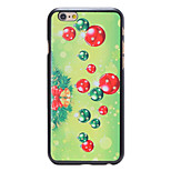 Christmas Style Green Decoration Pattern PC Hard Back Cover for iPhone 6