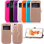 KARZEA™Diamond Double Windows Pattern TPU and PU Leather Case with Stand for iPhone 6 Plus/6S Plus(Assorted Colors)