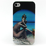 Naked Woman Painting Pattern TPU Soft Case for iPhone 4/4S