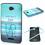 2-in-1 Bumblebee Love Sea Carpet Pattern TPU Back Cover + PC Bumper Shockproof Soft Case For Sony E4