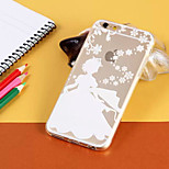 Christmas Princess Pattern TPU Material Soft Phone Case for iPhone 6/6S