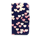 Printed Heart PU Leather Wallet Full Body Case with Stand for Nokia Lumia 630/635