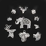 Beadia Metal Animal Head Charm Pendants Antique Silver DIY Jewelry Accessories