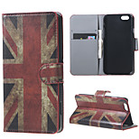 Vintage UK Flag Magnetic PU Leather Stand Case Cover for Iphone 6(4.7inch)/6s/6 plus(5.5inch)