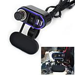12V-24V Waterproof Car Motorcycle Dual Socket Charger USB Power Adapter