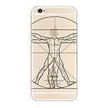 Apple Logo Men Pattern TPU Soft Case for iPhone 6/6S