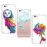 MAYCARI® Water-color Painting Transparent TPU Back Case for iPhone 6/iphone 6S(Assorted Colors)