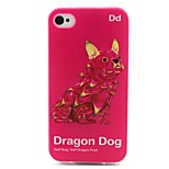 Dragon Dog Pattern TPU Case for iphone 4G/4S
