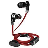 Langsdom JM02 Original Stereo Sound Handsfree Noodles Wire In-ear Earphone Microphone Headphone