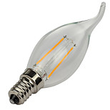 HRY® E14 2W 180LM Warm/Cool White Candle Bulbs 360 Degree LED Filament Lamp (85-265V)