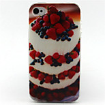 Strawberry Cake Painting Pattern TPU Soft Case for iPhone 4/4S