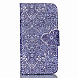 Paisley Flower Pattern PU Leather Full Body Case with Stand and Card Slot for iPhone 4/4S