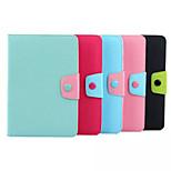caramelo del color TPU + cubierta de la caja de la piel suave protectora de la PU con el soporte de la tarjeta para el mini ipad 4