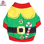 FUN OF PETS® Cute Cartoon Santa Claus Christmas Costume Coat Dogs Clothing for Pets Dogs(Assorted Sizes and Colours)