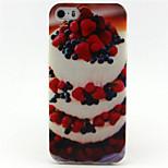 Erdbeerkuchen Malerei-Muster-TPU weicher Kasten für iPhone 5 / 5s