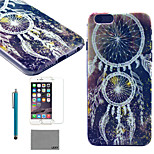 LEXY® Star Campanula Pattern Hard PC Back Case with 9H Glass Screen Protector and Stylus for iPhone 5/5S