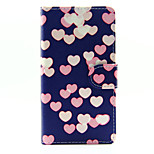Love Face Design PU Leather Stand Case with Card Slot for Sony Xperia M2