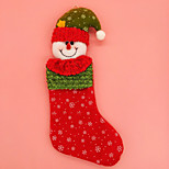 Celebration Happy Snowman Santa Claus Christmas Socks & Stockings For Christmas Party