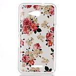Rose Pattern TPU Phone Case for Sony Xperia E4G
