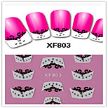 1PCS 3D Nail Stickers French Nail Stickers XF803