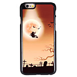 Halloween Style Witch in Graveyard Pattern Allunium Back Case for iPhone 6
