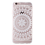 White Sunflower Style Transparent Soft TPU Back Cover for iPhone 6/6S 4.7