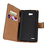 Light Surface Pattern Hard Case with Magnetic Snap and Card Slot for LG L80