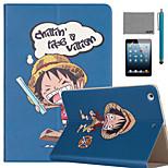 lexy® motif luffy morveux PU cuir flip reposer cas avec protecteur d'écran et stylet pour Mini iPad 1/2/3