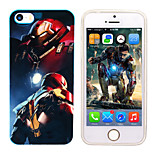 iPhone 5 Marvel The Avenger Ironman Mirror Back Cover Case Free with Headfore HD Screen Protector for iPhone 5/5s
