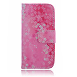 Five Flowers Pattern PU Leather Material Suction Port Standoff Phone Case for iPhone 6 / 6S