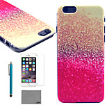 LEXY® Mixing Powder Pattern Hard PC Back Case with 9H Glass Screen Protector and Stylus for iPhone 5/5S