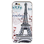 Paris Tower Pattern PC Back Cover with Golden Metallic Bumper for iPhone 6