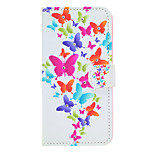 Butterfly Pattern Diamond Style PU Leather and TPU Full Body Case for iPhone 6/6S