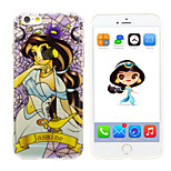 Disney Princess Jasmine Silicone Gel TPU material Semi-Transparent Case Free with  HD Screen Protector for iPhone6 Plus