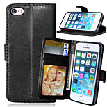 Luxury PU Leather Wallet Flip With Card Slot Photo Frame Stand Cover For iPhone 5/5S