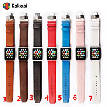 Kakapi Double Buckle Fiber Watchband Sport With the connector for Apple iWatch 38/42mm  Assorted Colors
