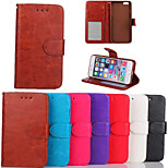 Crazy Horse Grain PU Leather Full Body Phone Protective Cases with Stand and Card Slot for iPhone 6/6S 4.7 inch